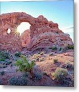 Desert Sunset Arches National Park Metal Print