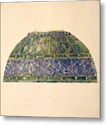 Design For Floral Lamp  Louis Comfort Tiffany American, New York 1848-1933 New York Metal Print