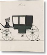 Design For Glass Panel Coach, No. 3132 1875 Metal Print