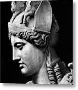 Detail Of The Face Of Athena Farnese Metal Print