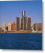 Detroit Buildings On The Water Metal Print