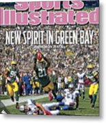 Detroit Lions V Green Bay Packers Sports Illustrated Cover Metal Print