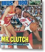 Detroit Pistons Isiah Thomas, 1987 Nba Eastern Conference Sports Illustrated Cover Metal Print