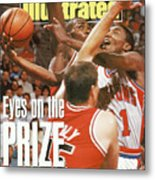 Detroit Pistons Isiah Thomas, 1990 Nba Eastern Conference Sports Illustrated Cover Metal Print
