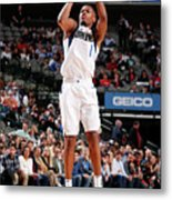Detroit Pistons V Dallas Mavericks Metal Print