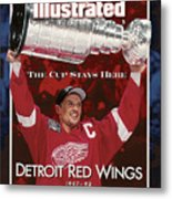 Detroit Red Wings Steve Yzerman, 1998 Nhl Finals Sports Illustrated Cover Metal Print