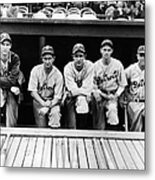 Detroit Tigers 1935 Pitching Staff And Metal Print