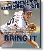 Detroit Tigers Justin Verlander... Sports Illustrated Cover Metal Print