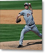 Detroit Tigers V St Louis Cardinals Metal Print