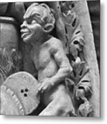 Devil Fanning The Fire, From The Last Judgement Of The Cathedral Of St Etienne In Bourges  Metal Print