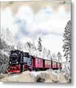 Diesel Powered Passenger Train Metal Print