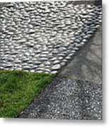 Different Textures Of Sidewalk, And Metal Print