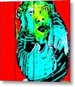 Digital Monkey 4 Metal Print