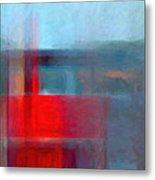 Digital Structure Of Painting. Oil Metal Print