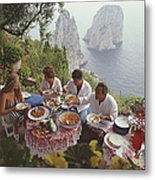 Dining Al Fresco On Capri Metal Print