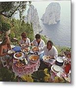Dining Al Fresco On Capri Metal Print