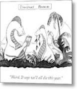 Dinosaur's Almanac Metal Print