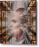 Distracted By Thoughts Metal Print