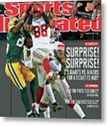 Divisional Playoffs - New York Giants V Green Bay Packers Sports Illustrated Cover Metal Print