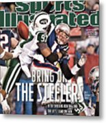Divisional Playoffs - New York Jets V New England Patriots Sports Illustrated Cover Metal Print