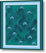 Dolphins Design Metal Print