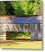 Double Crib Barn In Cades Cove In Smoky Mountains National Park Metal Print
