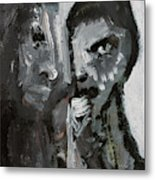 Double Portrait Metal Print