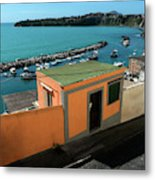 Downhill To The Harbour Metal Print