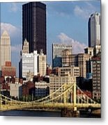 Downtown Pittsburgh Panorama From Pnc Metal Print