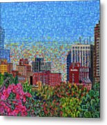Downtown Raleigh - October Sunset Metal Print