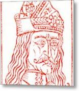 Dracula Or Vlad Tepes, 1491 Woodcut Metal Print