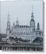 Dresden Cathedral- Dresden Metal Print
