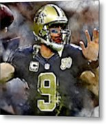 Drew Brees Metal Print
