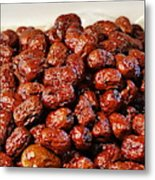 Dried Chinese Red Dates Metal Print