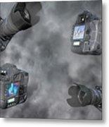 Dslr Cameras Metal Print