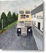 Dublin Bus Painting Metal Print