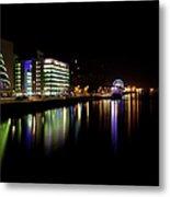 Dublin City Along Quays Metal Print
