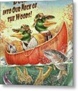 Duck Canoe Metal Print