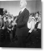Dudley Field Malone Delivering Speech Metal Print