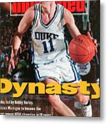 Duke University Bobby Hurley, 1992 Ncaa National Sports Illustrated Cover Metal Print