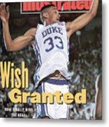 Duke University Grant Hill, 1991 Ncaa National Championship Sports Illustrated Cover Metal Print
