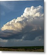 Dying Thunderstorms At Sunset 006 Metal Print