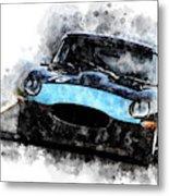 E-type Racing Metal Print
