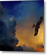 Eagle Over The Top Metal Print