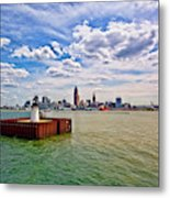 East Pierhead Lighthouse View Of Cleveland Metal Print