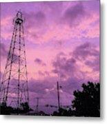East Texas Oil Derrick Metal Print