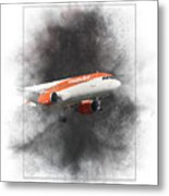 Easyjet Airbus A319-111 Painting Metal Print