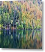 Echo Lake Autumn Shore Metal Print