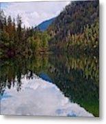 Echo Lake Early Autumn Reflection Metal Print