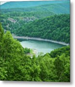 Edersee Lake Surrounded With Forest Metal Print